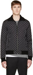 Dolce And Gabbana Black And White Reversible Printed Bomber
