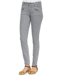 Belstaff Zip Pocket Skinny Jeans Gray
