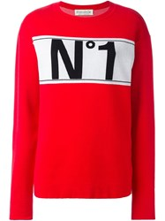 Etre Cecile No1 Boyfriend Knit Sweater Red