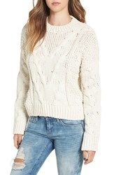 J.O.A. Women's J.O.A Cable Knit Sweater Ivory