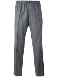 Maison Kitsune Straight Leg Trousers Grey