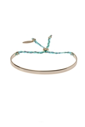 Metal And Thread Tie Bangle By Orelia Gold