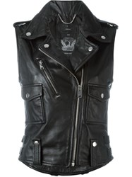 Diesel Sleeveless Biker Jacket Black
