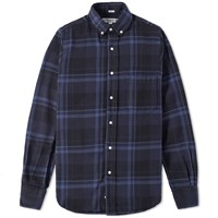 Individualized Shirts Heavy Twill Check Shirt Blue