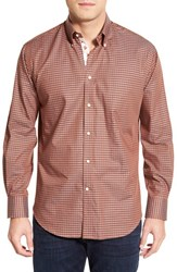 Men's Thomas Dean 'Texas Longhorns' Regular Fit Long Sleeve Gingham Sport Shirt