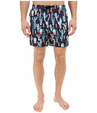 Original Penguin Neon Cactus Fixed Volley Fit Dark Sapphire Men's Swimwear Blue