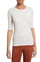 Theory Women's Santea C2 Modal And Pima Cotton Elbow Sleeve Tee