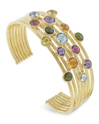 Marco Bicego Jaipur Mixed Stone Seven Row Bangle Bracelet