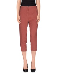 Annarita N. 3 4 Length Shorts Brick Red