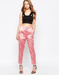Minimum Moves High Waisted Trouser Wild Rose Pink