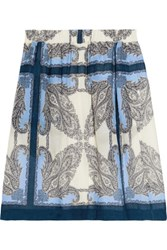 Paul And Joe Sister Marly Printed Voile Mini Skirt Storm Blue