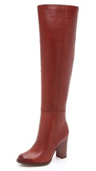 Sam Edelman Rylan Tall Boots Rust Red