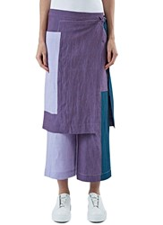 Acne Studios Oba Li Patchwork Sarong Pants Purple