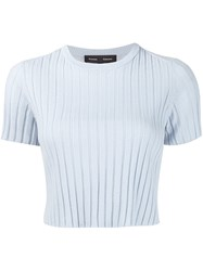 Proenza Schouler Cropped Sweater Blue