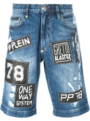 Philipp Plein 'Young Man' Denim Shorts Blue