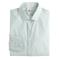 Thomas Mason For J.Crew Ludlow Shirt In Gatlin Green Stripe
