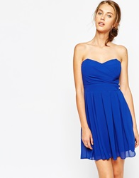 Tfnc Prom Dress In Pleated Chiffon Cobaltdazzlingblue