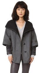 Add Down Double Face Wool Jacket Grey Melange