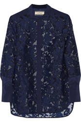 By Malene Birger Liliani Embroidered Organza Shirt Blue