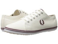 Fred Perry Kingston Twill Porcelain Oxblood Men's Lace Up Casual Shoes White