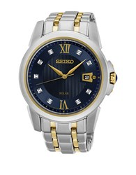 Seiko Le Grand Sport Stainless Steel Solar Bracelet Watch Two Tone