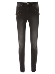 Mint Velvet Phoenix Skinny Jeans Washed Black