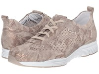 Mephisto Yoana Light Sand Python Women's Lace Up Casual Shoes Beige