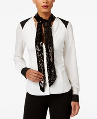 Inc International Concepts Reversible Sequined Skinny Scarf Only At Macy's Black