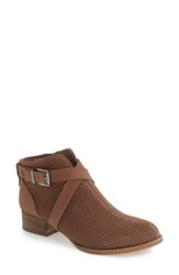 Vince Camuto Women's 'Casha' Perforated Bootie Smoke Taupe Nubuck Leather
