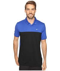 Nike Icon Color Block Polo Game Royal Black White Men's Short Sleeve Pullover Blue