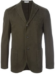 Boglioli Patch Pocket Blazer Jacket Green