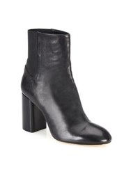 Rag And Bone Agnes Leather Block Heel Booties Black