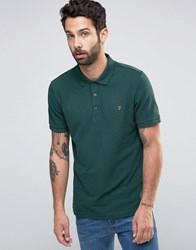 Farah Polo Shirt In Regular Fit In Green Green