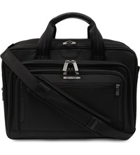Briggs And Riley Work Medium Expandable Laptop Briefcase Black