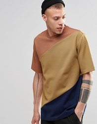 Weekday Danger Cut And Sew T Shirt Yellow Yellow 23 208