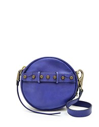 She Lo Aim High Disco Leather Crossbody Bag Purple
