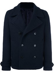 Dondup Double Breasted Peacoat Blue