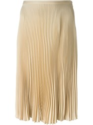 Ralph Lauren Pleated Skirt Nude And Neutrals