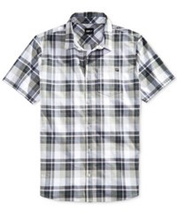 Fox Men's Short Sleeve Trailblazer Western Plaid Shirt White