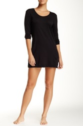 Only Hearts Club Scoop Neck Long Sleeve Night Shirt Black