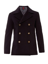 Gucci Double Breasted Wool Felt Pea Coat