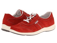 Mephisto Laser Perfore Red Nubuck Women's Lace Up Casual Shoes