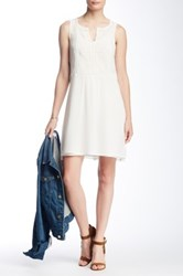 Lucky Brand Embroidered Dress White