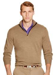 Polo Ralph Lauren Golf By Long Sleeve Half Zip Pullover Scout Taupe Heather