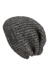 John Varvatos Men's Star Usa Cappuccino Oversized Cotton And Wool Beanie
