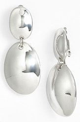 Simon Sebbag Women's 'Safari' Double Drop Clip Earrings Silver
