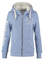 Superdry Tracksuit Top Nordic Blue Snowy Light Blue