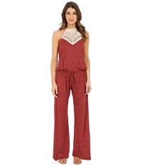 Lucky Brand Natural Fever Jumpsuit Terracotta Women's Jumpsuit And Rompers One Piece Orange