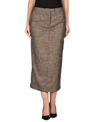 Veronique Branquinho 3 4 Length Skirts Khaki