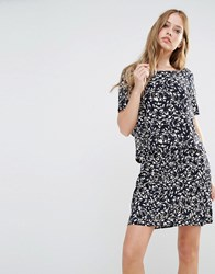 Y.A.S Petunia Double Layer Dress All Over Print Multi